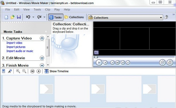 Tiến hành cắt video bằng Windows Movie Maker